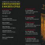 31° Corso di cultura 2011: Cristianesimo e società civile